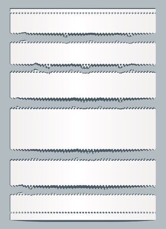 vector perforated torn paper layout Stock Vector - 14958631