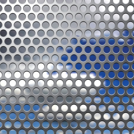 abstract background with perforated metal plate and sky Vector