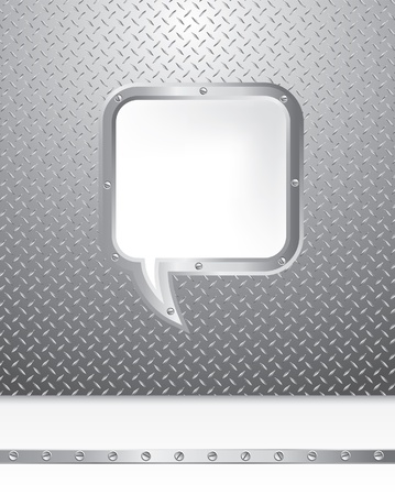 background with metal speech bubble Vector