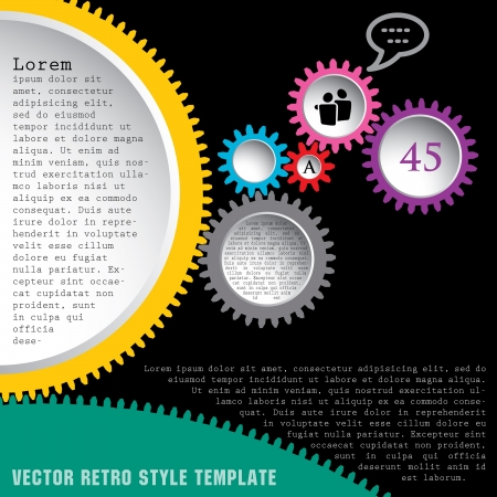 abstract vector illustration with gears Stock Vector - 16006708