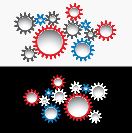 abstract vector illustration with gears Stock Vector - 16006710