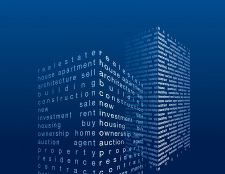 skyscrapers in word collage