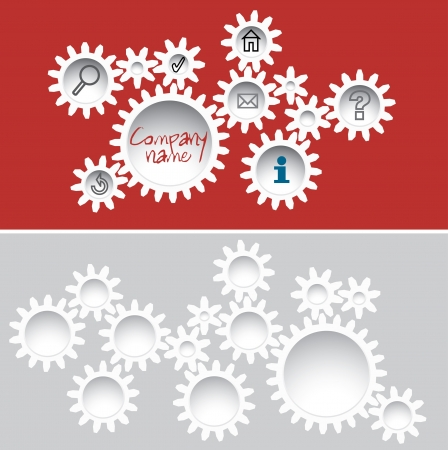 abstract template with gears Vector