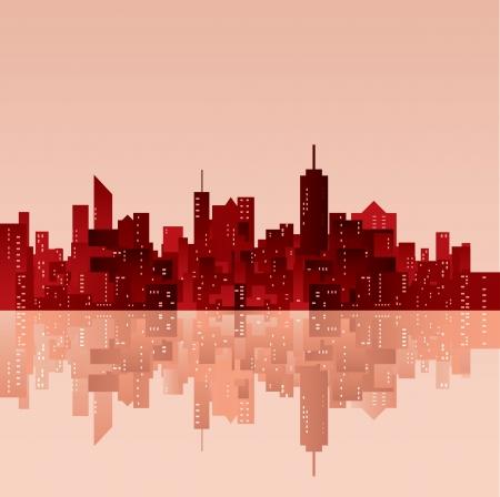 ベクター都市のシルエット 写真素材 - 16593282