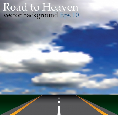emty: illustration of the road to heaven Illustration