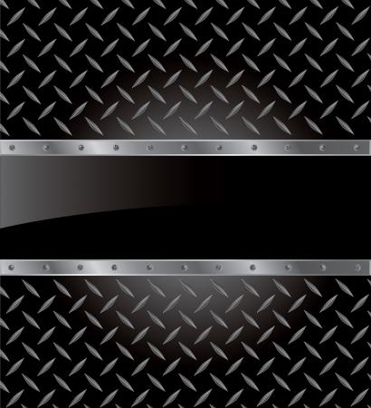 pavimento lucido: illustrazione della piastra metallica con spazio nero per il testo