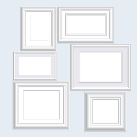 Ilustración Vectorial De Tres Marcos Blancos En Blanco Ilustraciones ...