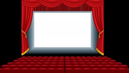 vector illustration of the empty cinema auditorium Stock Vector - 17121616