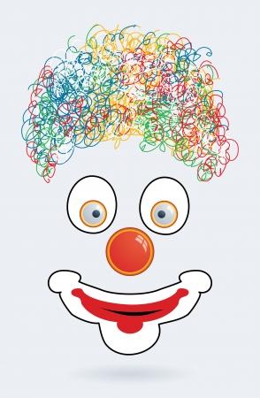 clowngesicht: Vektor-Illustration der Clown-Gesicht Illustration