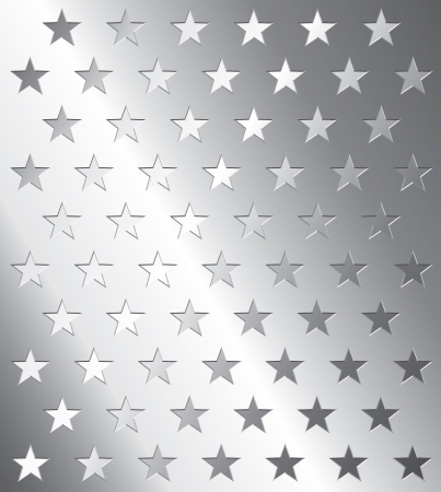 seamless metal:  metal plate with star perforation Illustration