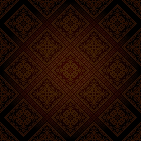 seamless wallpaper in dark chocolate color Stock Vector - 17587433