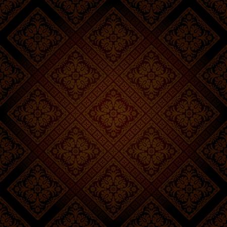 seamless wallpaper in dark chocolate color Stock Vector - 17587433