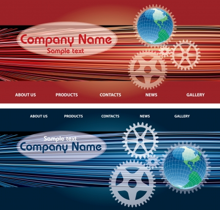 web site design: web site design templates with globe and sample text in separate layer