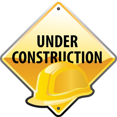 construction hat: vector sign for the construction works