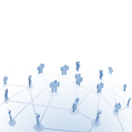medium group of people: vector symbolic illustration for employment and connection of people Illustration