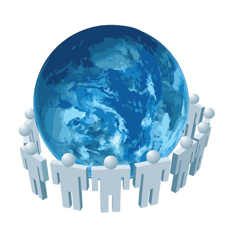 medium group of people:  the global communication