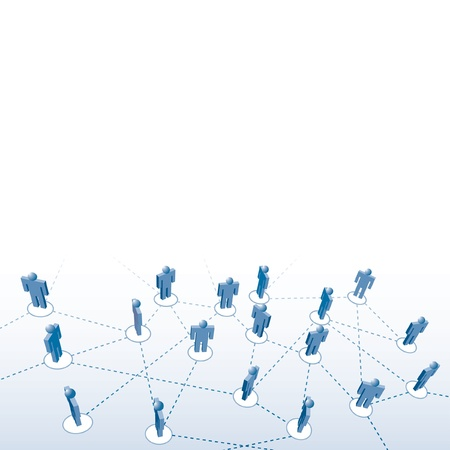 medium group of people:  people network connection