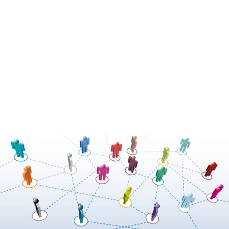 medium group of people: different people connection