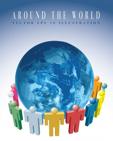 medium group of people: abstract illustration for the global communication Illustration