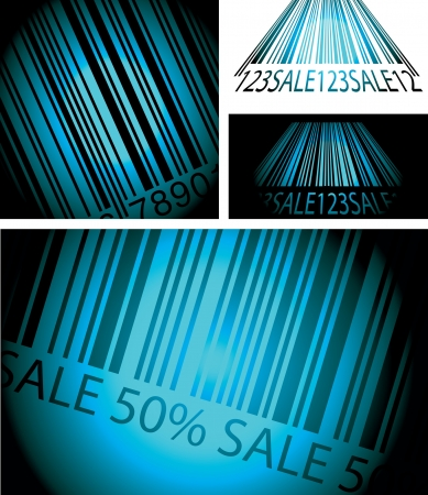 set of vector illustrations of bar code Stock Vector - 18697958