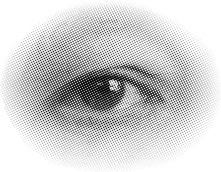 raster halftone human eye