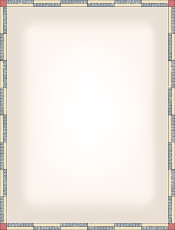 certificate frame: simple stripped border