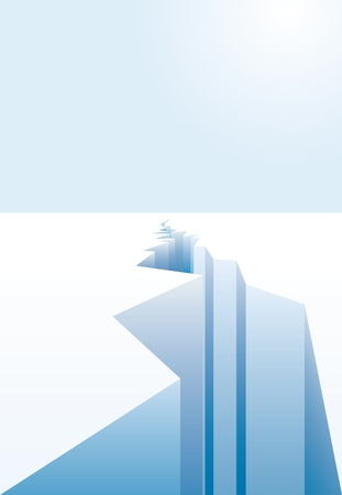 untouched: background for global warming with ice crack  Illustration