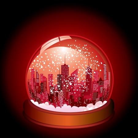 небоскребы: Рождество в городе Иллюстрация