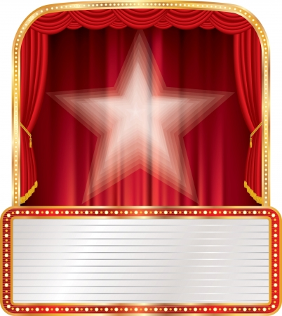 stage with star and blank billboard  Vector