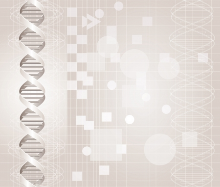 vector abstract background with DNA graph in gray colors Vector