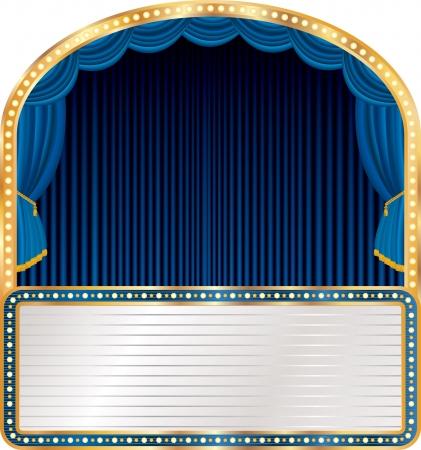 elipse: azul vector etapa elipse con la cartelera en blanco Vectores