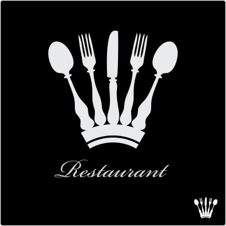 Vektor-Zeichen für Restaurant mit Krone Standard-Bild - 22727603