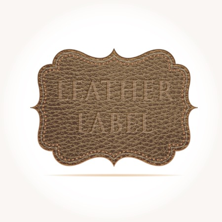 leather stitch: vector illustration of the leather label