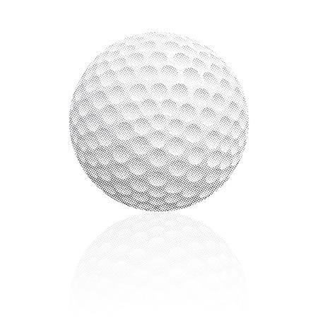 dimple: vector raster golf ball