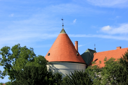 old cone roof in Zagreb photo