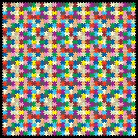 1024 個のベクトル パズル  イラスト・ベクター素材