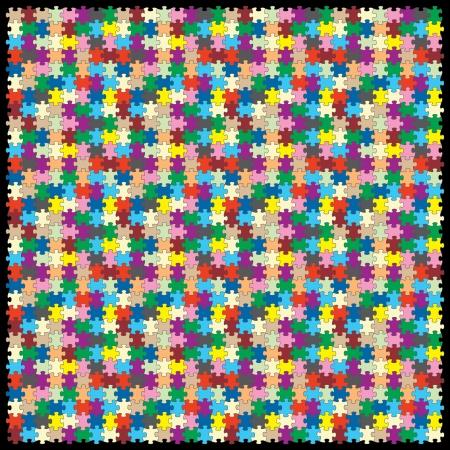 Vektor-Puzzle mit 1024 Stück Standard-Bild - 23654955