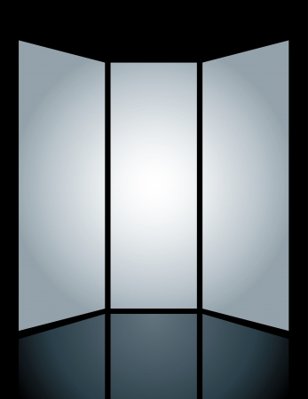 three vertical vector blank screens  Vector