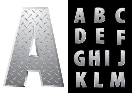 emboss: vector metal emboss alphabet