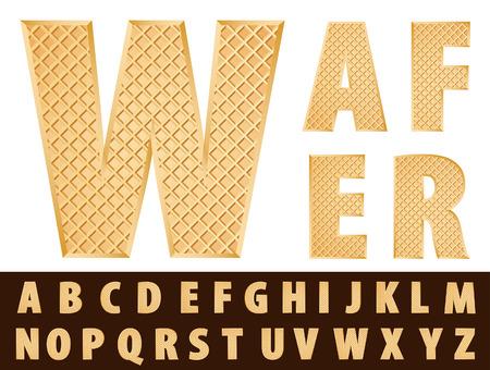 galletas: vector oblea alfabeto