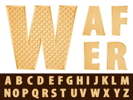 biscuits: vector wafer alphabet  Illustration