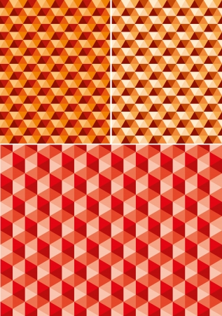 quadrant: vector abstract geometric seamless repeating wallpaper in hot colors Illustration