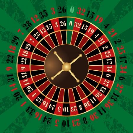 fortune wheel: French roulette wheel Illustration