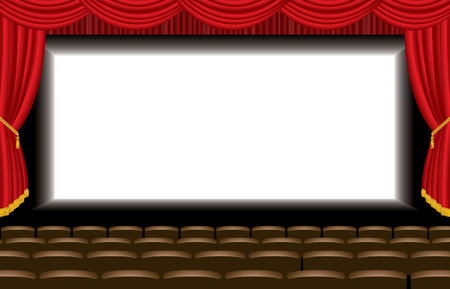 vector illustration of the empty cinema auditorium  Vector