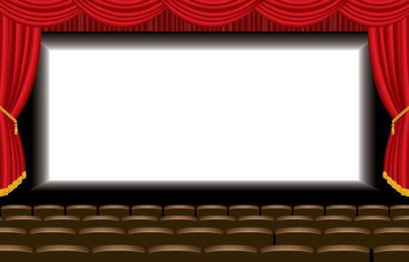 blockbuster: vector illustration of the empty cinema auditorium