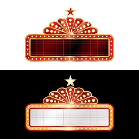 teatro: dos carteles en blanco