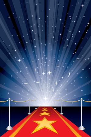ilustración con alfombra roja y Starburst