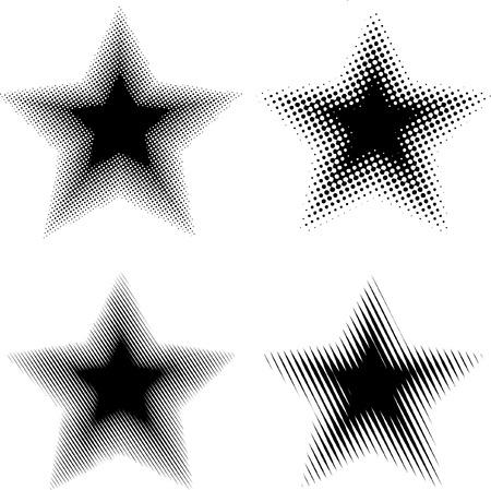 vector raster black and white stars