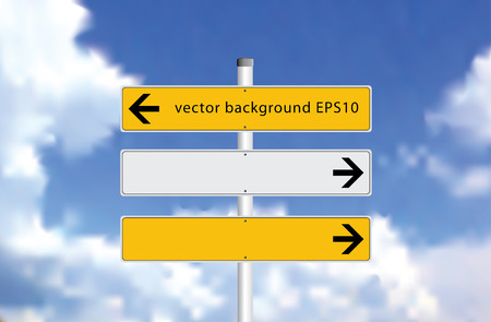 vector arrows traffic signs isolated with space for text  Vector