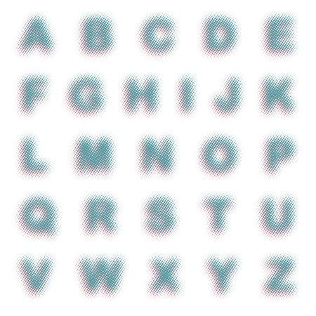 dimly: hazy dotted font Illustration